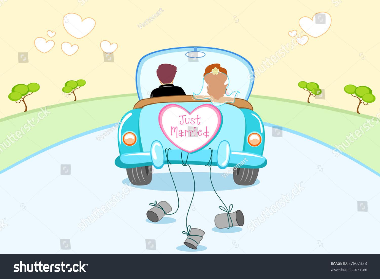 hochzeitsauto just married auto vorlage zum ausdrucken