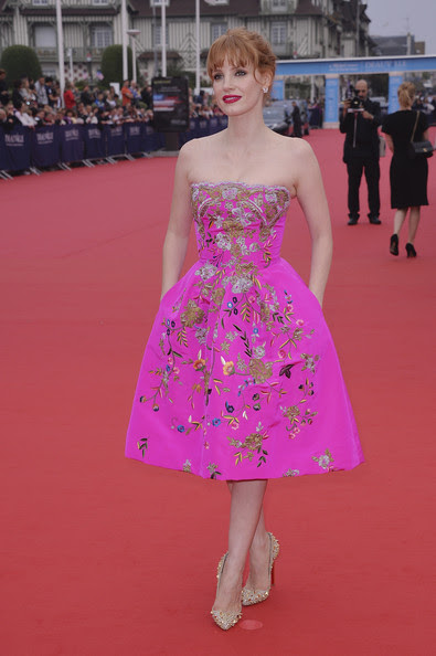 Jessica Chastain - Opeing Ceremony - 40th Deauville American Film Festival