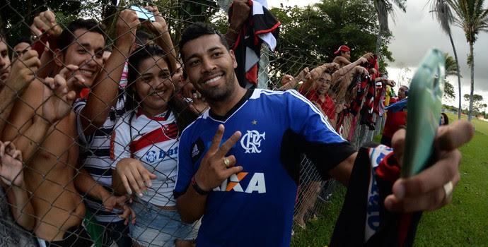 André Santos treino Flamengo (Foto: Alexandre Vidal/Fla Imagem)