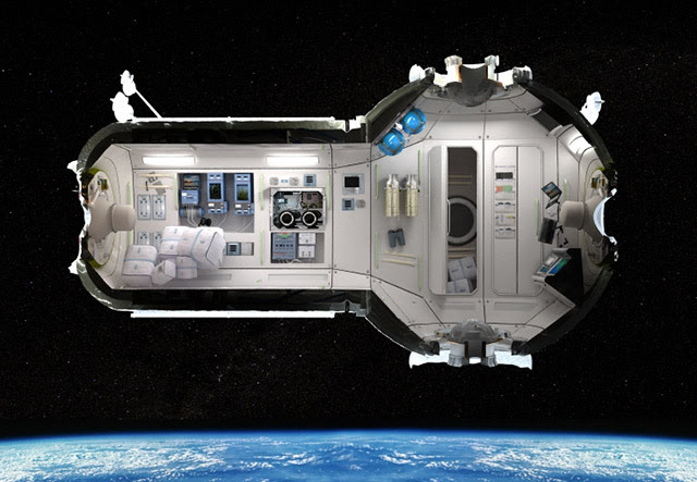 Space Tourism Travel, Orbiting Hotel Picture