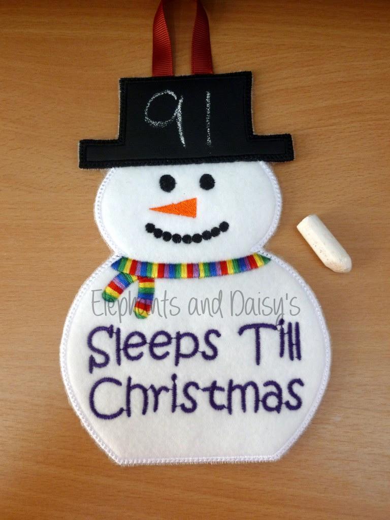 Snowman Christmas Countdown Design file : hannah