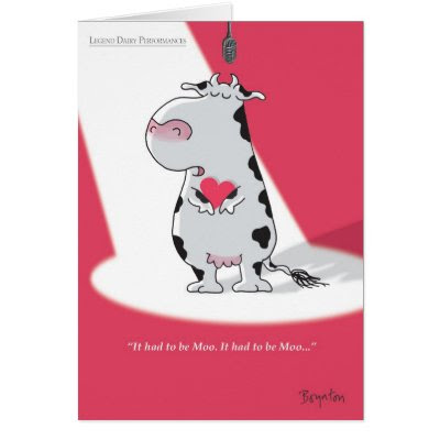 It had to be Moo - Funny Valentine's Day Card