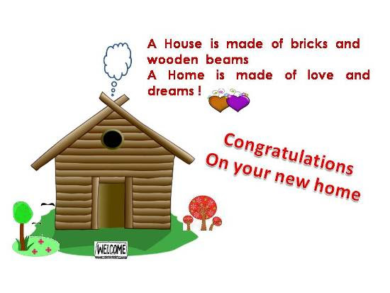 Congratulatory Message On A New Home Free New Home Ecards 123