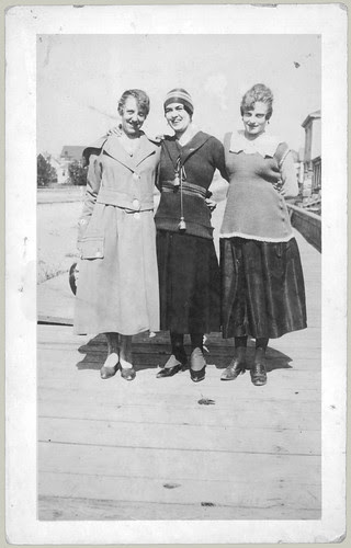 Three women on the boardwalk