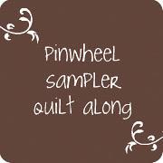 pinwheel sampler quilt along. {button.}