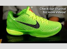 "Zoom Kobe 6 ""Grinch""   YouTube"