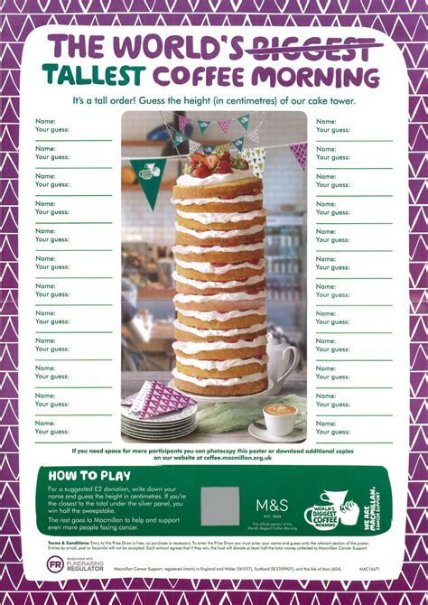 Come and join us at our Macmillan?s World?s Biggest Coffee