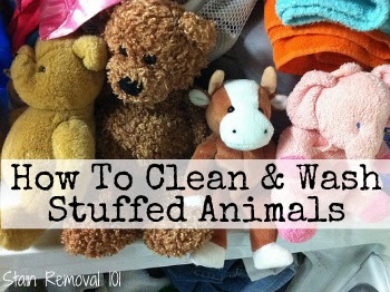 how to clean and wash stuffed animals