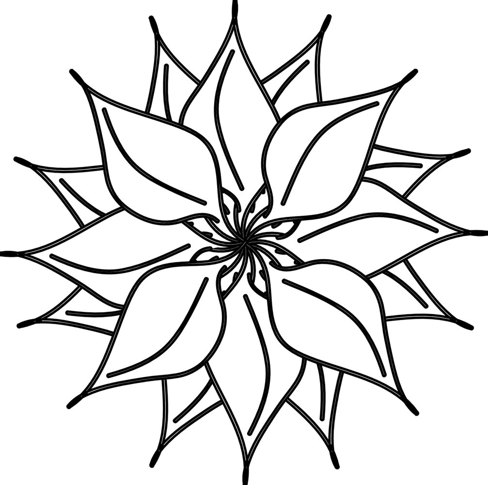 Flower Black And White Flowers Clipart Black White Free Clipart
