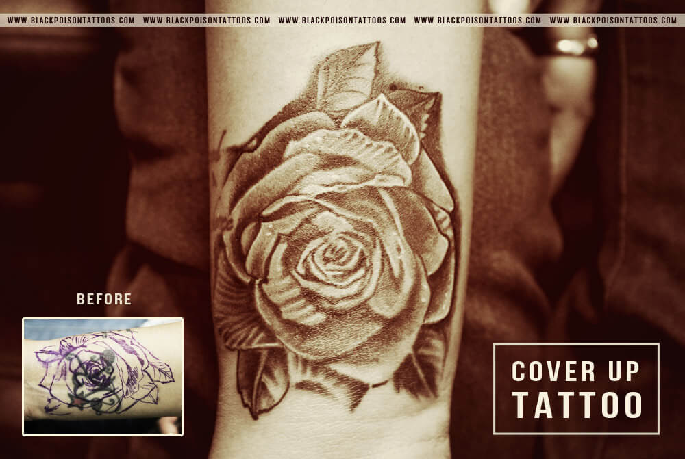 How A Tattoo Cover Up Works Tattoo Studio In India