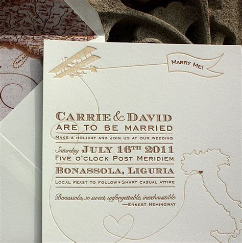 Vintage Inspired Invitations for a Destination Wedding in