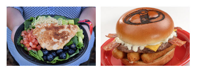 Super Foods Salad and Super Stretchy Burger ©Disney