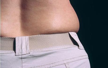 A woman's waistline: Half of women have 'muffin top' waistlines