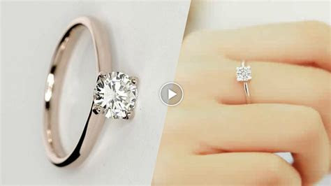 Latest Simple Engagement Ring Designs 2017 [ Asnie   YouTube