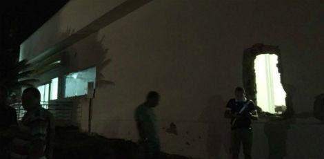 Grupo explodiu agência do Banco do Brasil por volta das 23h30 de terça-feira (5), em Macaparana / Foto: Reprodução/Rádio Jornal