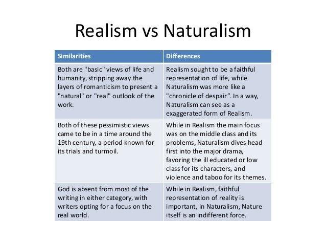 Naturalism Vs Romanticism
