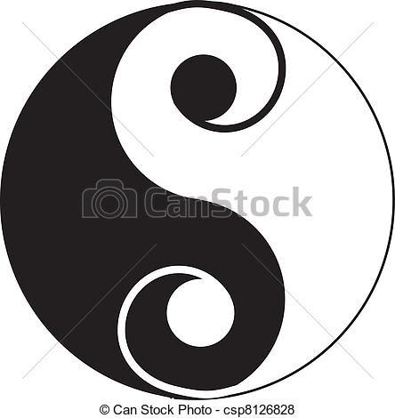 Small Yin Yang Symbol Tattoo On Hip