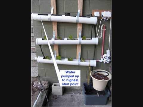 DIY Aquaponics Trough / Channel Flow & Ebb Hydroponic System