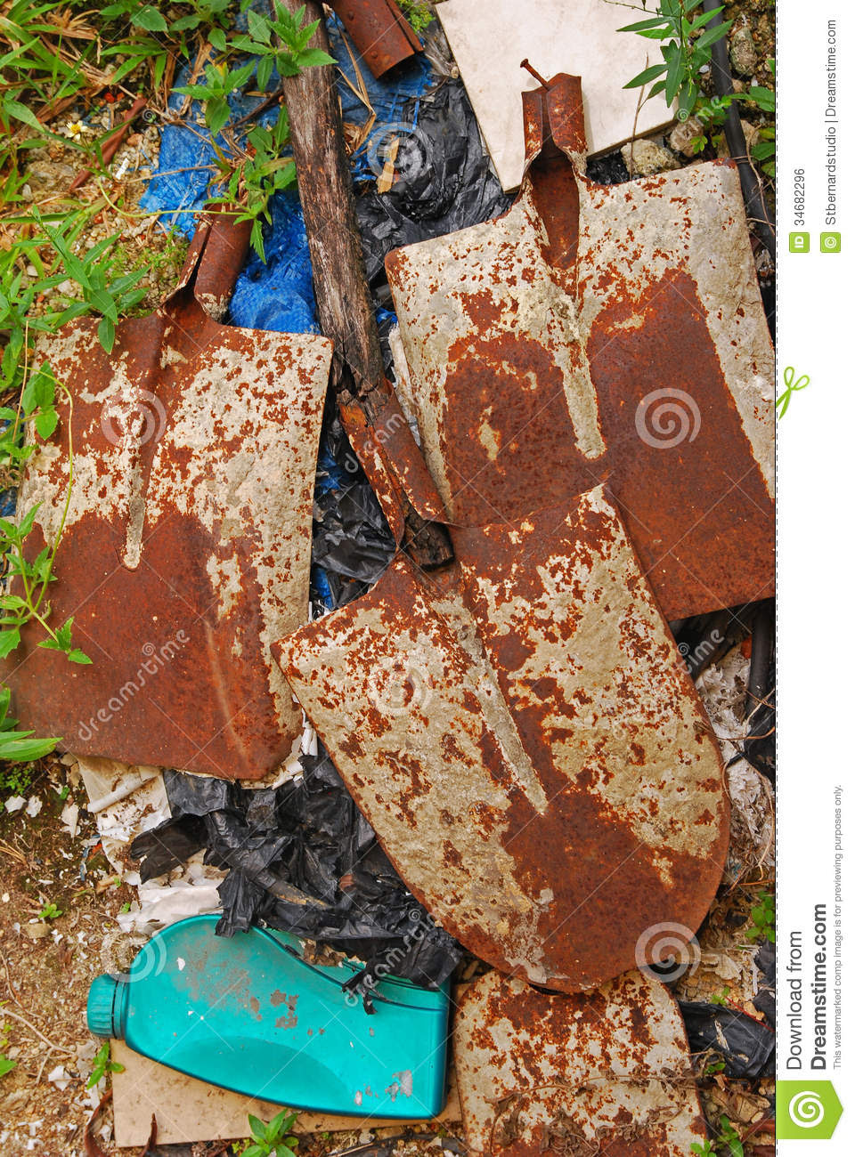 Unwanted Old Items At Home Outdoor Garden Royalty Free Stock Image ...