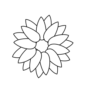Sunflower Outline clipart, cliparts of Sunflower Outline ...