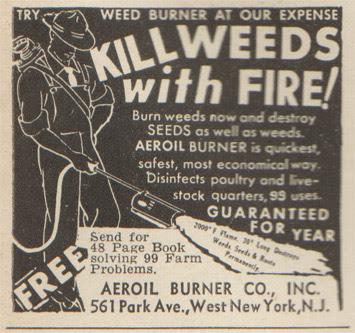 Aeroil burner : Kill weeds with fire! 2000º F