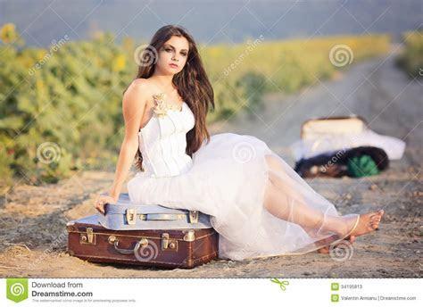 Runaway bride stock image. Image of bride, woman, young
