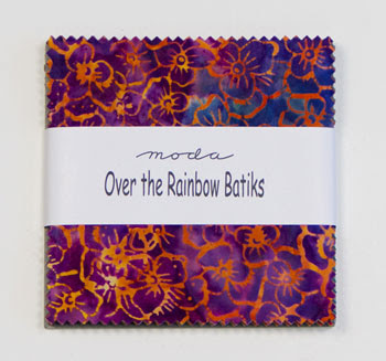 Moda Charm Pack - Over The Rainbow Batiks Color Wheel by Laundry Basket Quilts