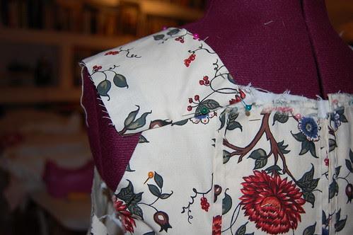 Cotton Print Sacque 6