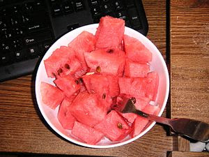 Watermelon and computer