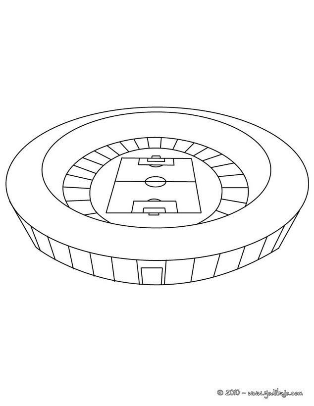 Dibujos Para Colorear Estadio De Futbol Es Hellokids Com
