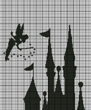 Tinkerbell Castle Silhouette Crochet Pattern