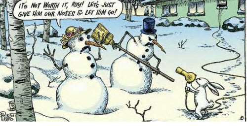 Snowmen with rabbit
