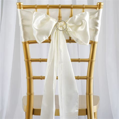 satin chair sashes ties bows wedding party catering