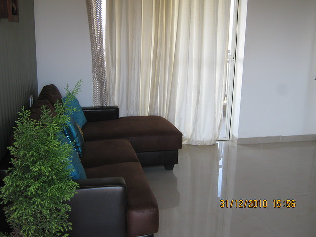 Living room in the sample flat - Visit to iParmar Group's River Residency, 34 Acre Township of 1 BHK, 2 BHK & 3 BHK Flats in Chikhali, in PCMC limits, Pune 412114