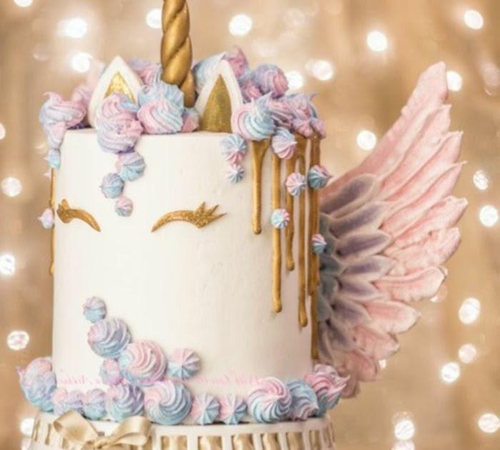 einhorn torte mit flügeln