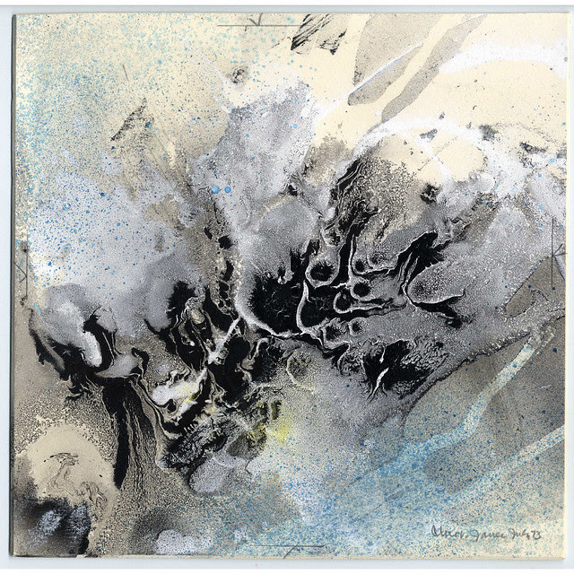 Skyforms-F (watercolour + mixed media on board) 1973 by Albert Christ-Janer