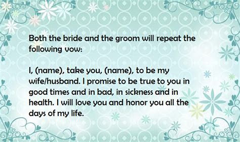 Detailed Explanation About Catholic Wedding Vows