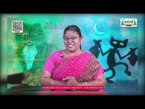 11th English Macavity - The Mystery Cat Unit 4 Poem Kalvi TV