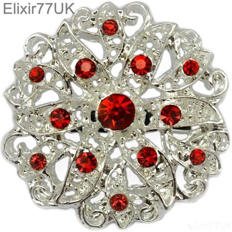 5   100 SILVER CRYSTAL BROOCH JOBLOT DIY BRIDAL WEDDING