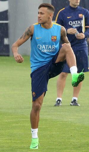 Messi e Neymar treino Barcelona (Foto: EFE/ Toni Garriga)