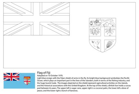 Dibujo De Bandera De Fiji Para Colorear Dibujos Para Colorear
