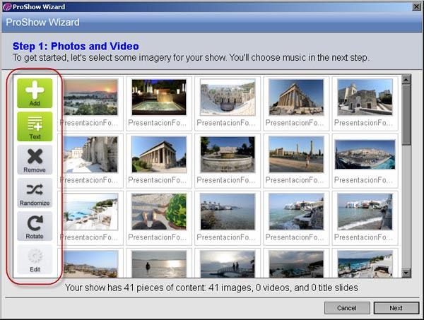 Photodex ProShow Gold 4.5 - Asistente Paso 2