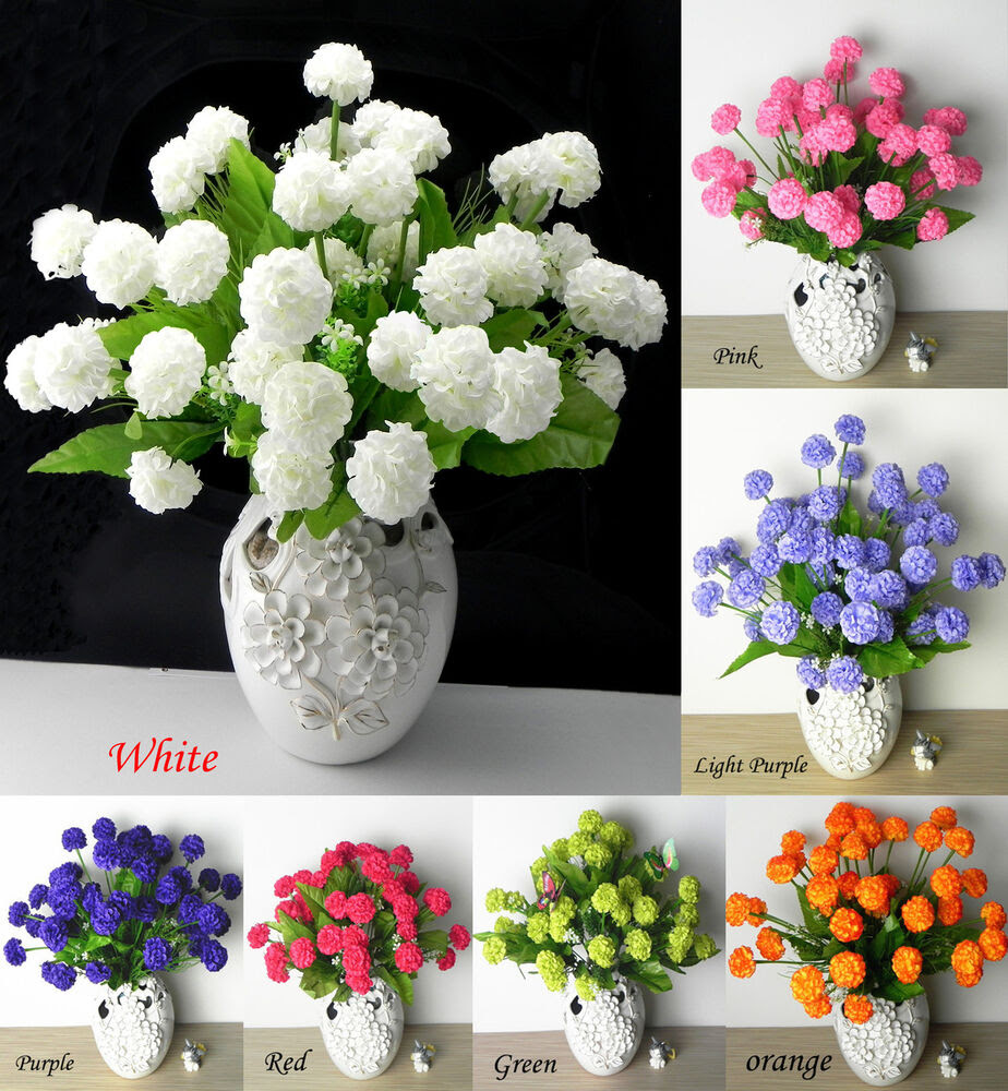 36 PCS Artificial Silk Hydrangea Flower Floral Wedding Home Decor  eBay