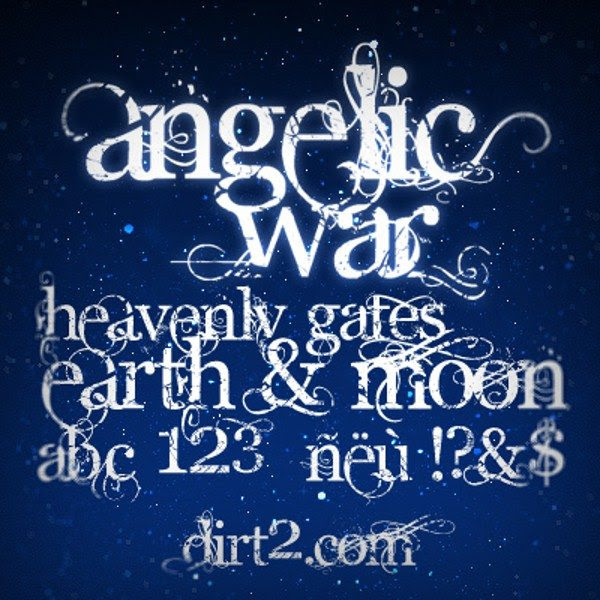 Angelic War - Free Font