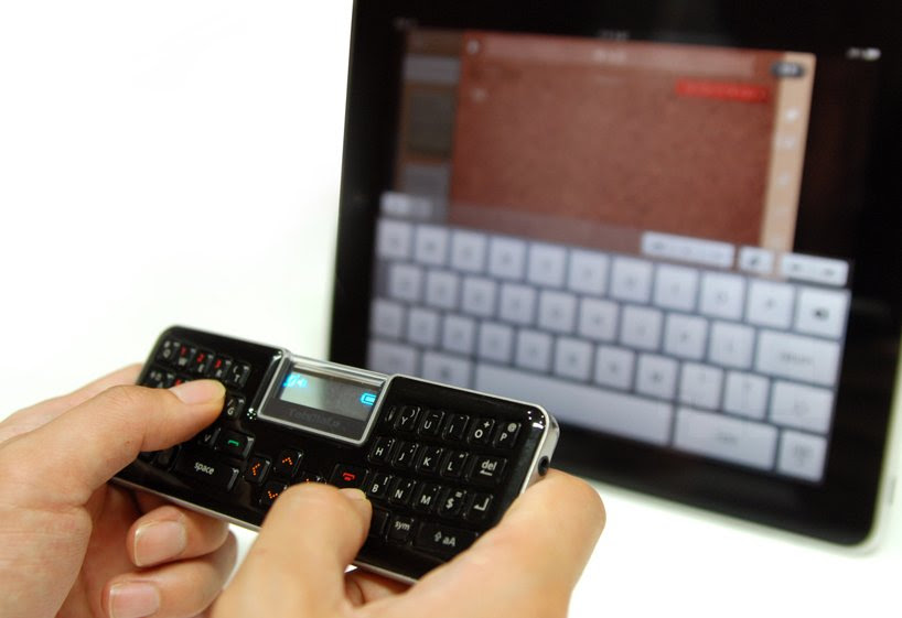 sangnam park produces bluetooth handsfree keyboard for table