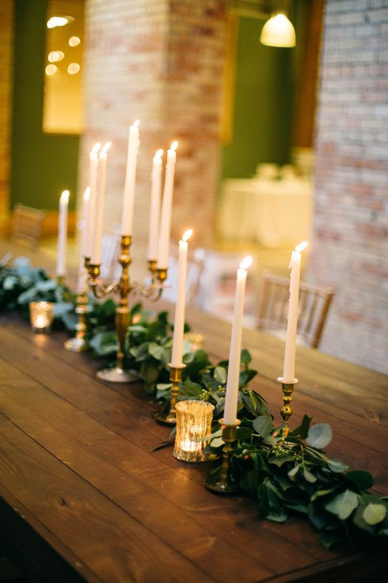 16 Trendy Greenery Wedding Centerpieces with Candles ...