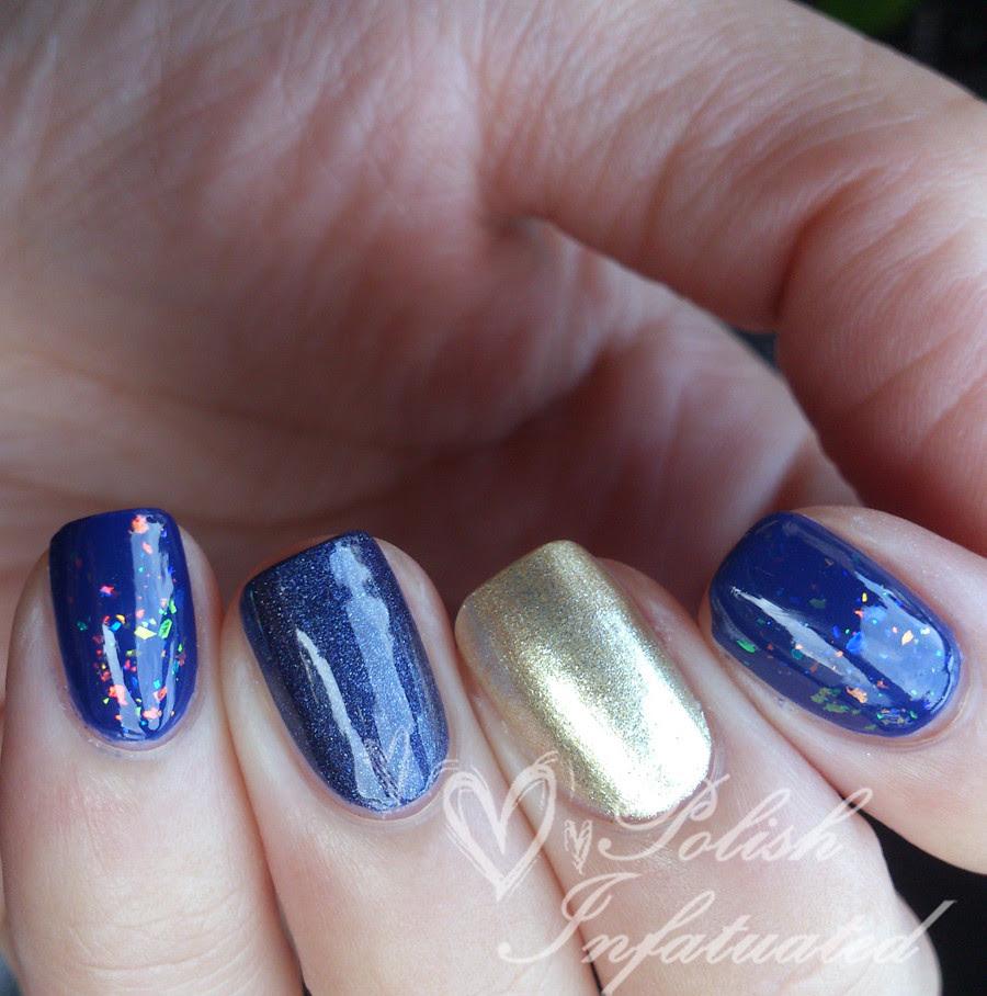 blue & gold skittle