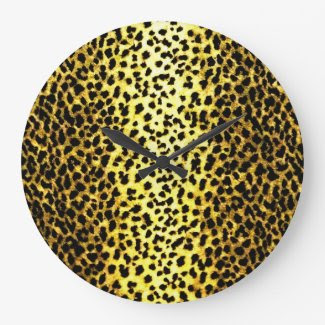 Leopard Wallpaper Animal Print Clocks