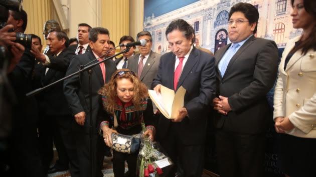 Toledo reiteró sus alegatos que, para la oposición, no ayudaron a aclarar su participación en sonado caso. (Martín Pauca)