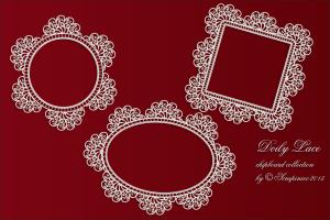 Doily Lace - Doilies- zestaw serwetek